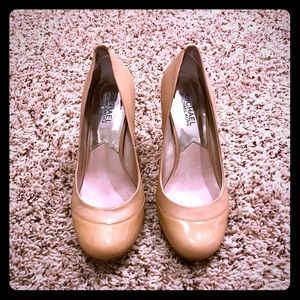 MICHAEL Michael Kord tan  leather heels size 7